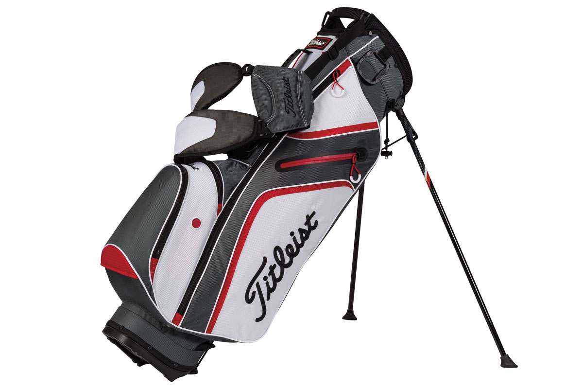 Titleist 2016 Ultra-Light Stand Bag Koksgrå Hvid Rød