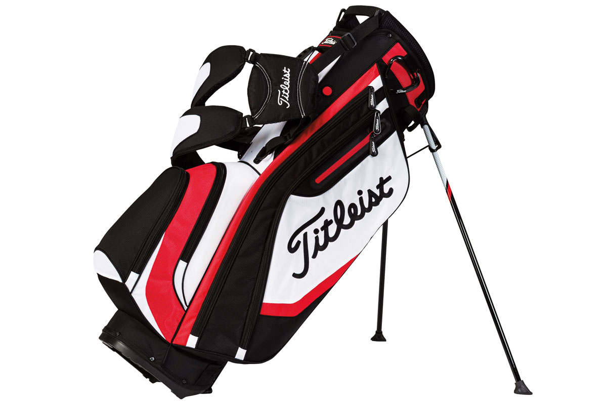 Titleist 2016 Lightweight Stand Bag Sort Hvid Rød