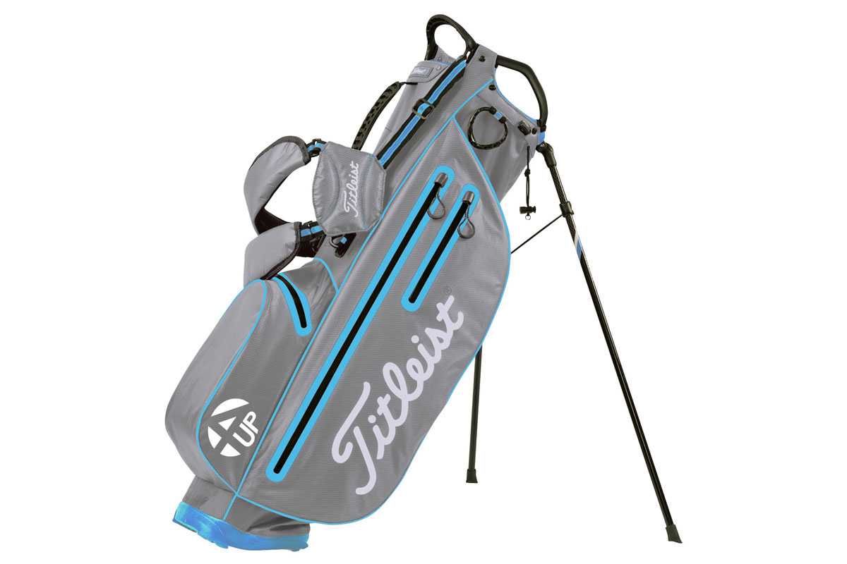 Titleist 2016 StaDry Light 4UP Stand Bag Grå Hvid Blå