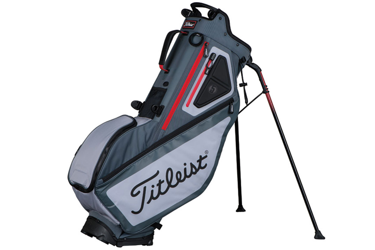 Titleist 2017 Players 5 Stand Bag Anthrazit Slate Rot