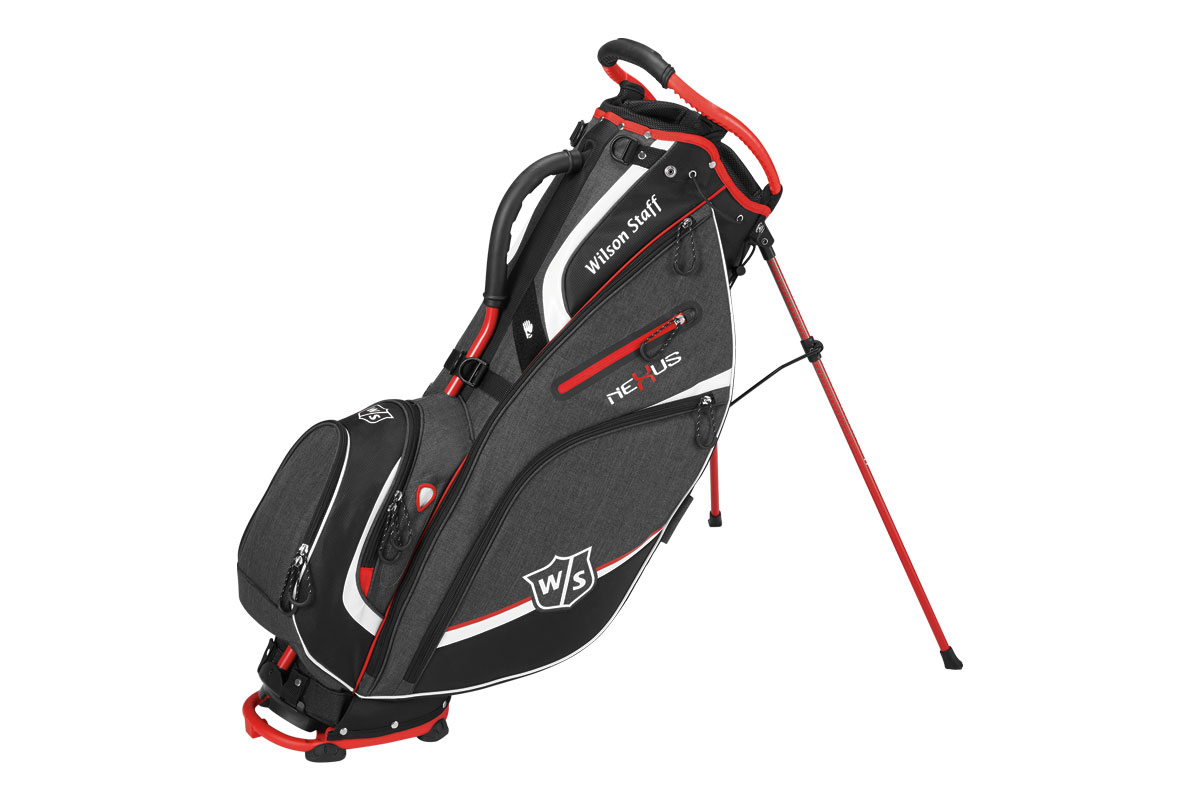 Wilson Staff 2018 Nexus 3 Stand Bag Schwarz Rot - SALE