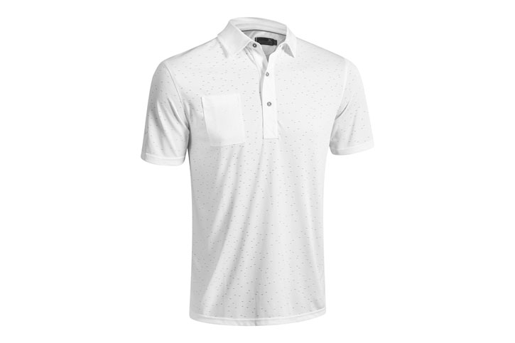 Mizuno Digital Jaquard Polo Blanc (L) - SALE