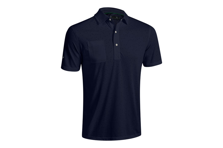 Mizuno 2016 Digital Jaquard Polo Bleu (L) - SALE