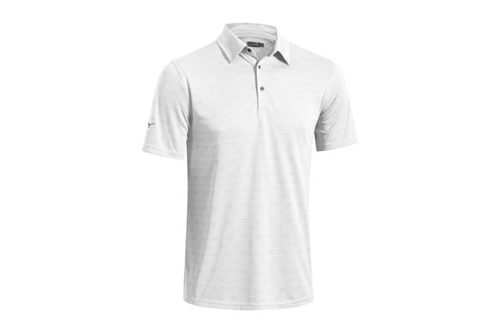 Mizuno Textured Polo Blanc (L) - SALE