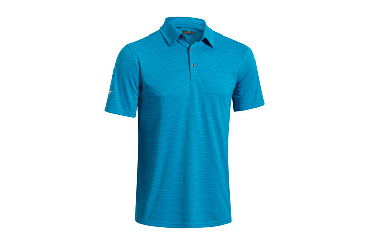 Mizuno Textured Polo Bleu (L) - SALE