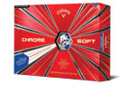 Callaway 2018 Chrome Soft Truvis Balles de Golf Blanc Rouge Bleu (12 Balles de Golf)