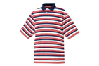 FootJoy 2013 Lisle Stripe Polo Bleu Marine Blanc Medium (M) - SALE