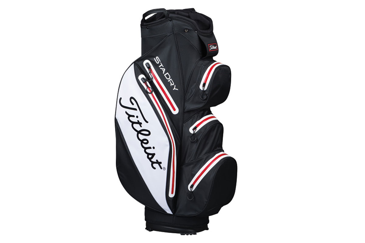 Titleist 2017 StaDry Sac Charriot Noir Blanc Rouge