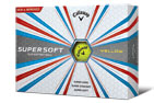 Callaway 2017 Supersoft Balles de Golf Jaune 3PK (36 Balles de Golf)