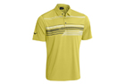 Mizuno 2015 Broken Stripe Poloshirt Lime Light (M) - SALE