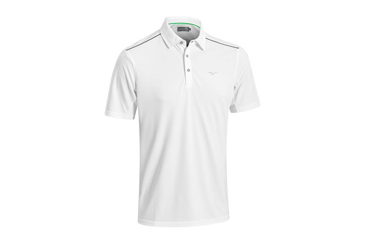 Mizuno Plain Poloshirt Wit (XL) - SALE
