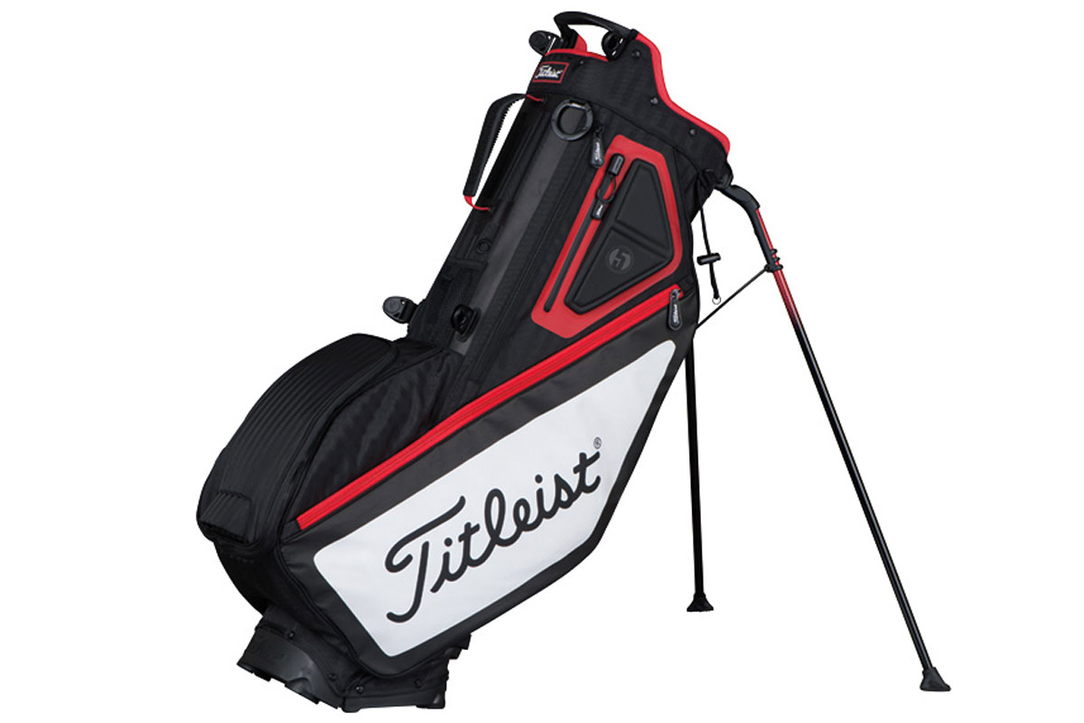 Titleist 2017 Players 5 Standbag Zwart Wit Rood
