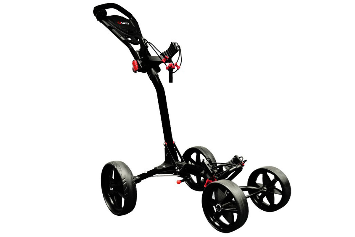 Ezeglide Compact Quad Trolley Zwart - RECONDITIONED